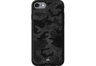 BLACK ROCK Material, Backcover, Apple, iPhone 7, Leder/Metall/Polycarbonat (PC)/Thermoplastisches Polyurethan (TPU), Schwarz