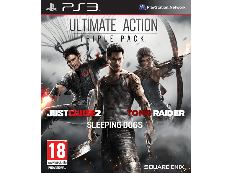 Ultimate Action Pack - Just Cause 2, Sleeping Dogs, Tomb Raider PS3 gaming   offline sony ps3 παιχνίδια ps3 gaming games ps3 games