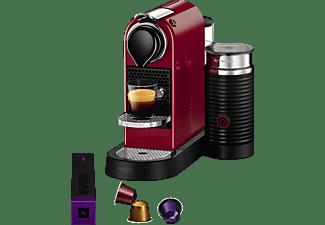 KRUPS XN7605 Krups Nespresso New CitiZ & Milk Kapselmaschine, Cherryrot