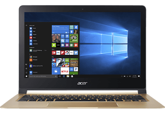 ACER NX.GK6EG.001 Swift 7 (SF713-51-M8MF), Notebook mit 13.3 Zoll Display, Core™ i5 Prozessor, 8 GB RAM, 256 GB SSD, HD-Grafik 615, Midnight Black/Champagne