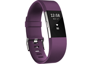 FITBIT Charge 2 Large, Activity Tracker, Lila/Silber
