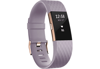 FITBIT Charge 2 Large, Activity Tracker, Lavendel/Roségold