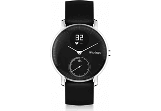 WITHINGS Activité STEEL HR 36mm, Activity Tracker, Armbandbreite: 20 mm, Schwarz
