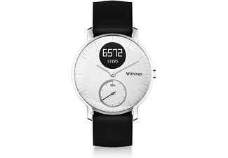 WITHINGS Activité STEEL HR 36 mm, Active Tracker, Armbandbreite: 18 mm, Weiß/Schwarz