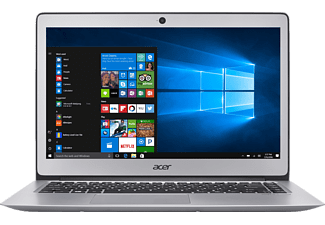 ACER Swift 3 (SF314-51-36R6), Notebook mit 14 Zoll Display, Core™ i3 Prozessor, 4 GB RAM, 128 GB SSD, HD-Grafik 520, Sparkly Silver