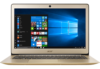 ACER Swift 3 (SF314-51-3632), Notebook mit 14 Zoll Display, Core™ i3 Prozessor, 4 GB RAM, 128 GB SSD, Intel® HD Grafik 520, Luxury Gold