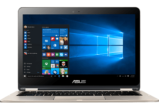 ASUS TP301UA-DW233T, Notebook mit 13.3 Zoll, 256 GB Speicher, 8 GB RAM, Core i3 Prozessor, Windows® 10 Home (64 Bit), Gold
