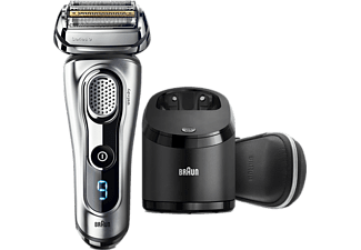 BRAUN Series 9 9291cc Wet&Dry Elektrisk Rakapparat med Clean&Charge-system - Premium Silver