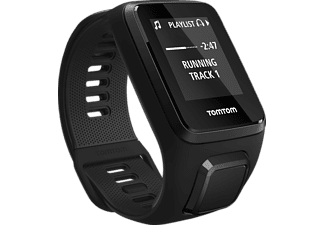 TOMTOM  Spark 3 Music + Headphones (Small), GPS-Fitnessuhr, 121-175 mm (Small), Schwarz