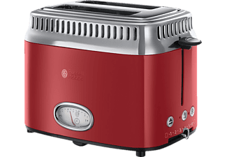 russell hobbs toaster 21680 56 retro ribbon red rot edelstahl media markt. Black Bedroom Furniture Sets. Home Design Ideas
