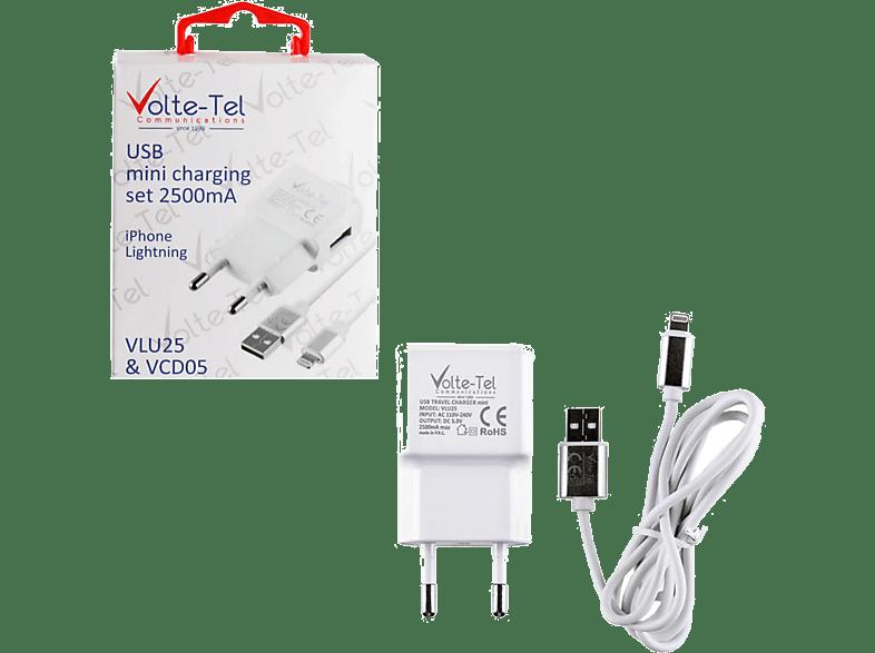 VOLTE-TEL Travel Charger Lightning 2.5A White - (5205308163920) τηλεφωνία   πλοήγηση   offline αξεσουάρ iphone smartphones   smartliving iphone