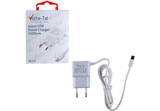 VOLTE-TEL Micro USB Travel VL15 1500mA 1.2m White - (5205308164019)