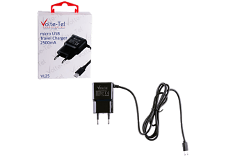 VOLTE-TEL Micro USB Travel VL25 2500mA 1.2m Black - (5205308164026)