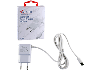 VOLTE-TEL Micro USB Travel VL25 2500mA 1.2m White - (5205308164033)