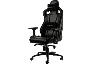 NOBLECHAIRS Epic Series Faux Leather Gaming Chair - Svart/Guld
