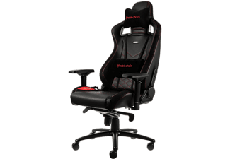 NOBLECHAIRS Epic Series Faux Leather Gaming Chair - Svart/Röd