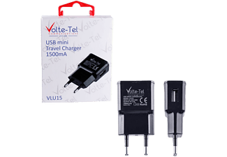 VOLTE-TEL USB Travel Charger mini VLU15 1500mA Black - (5205308163937)