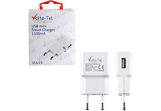 VOLTE-TEL USB Travel Charger mini VLU15 1500mA White - (5205308163944)