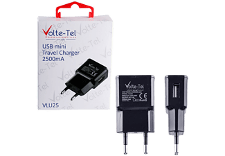 VOLTE-TEL USB Travel Charger mini VLU25 2500mA Black - (5205308163968)