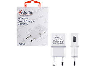 VOLTE-TEL USB Travel Charger mini VLU25 2500mA White - (5205308163951)