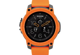 NIXON Mission, Smartwatch, Polykarbonat, Orange/Grau/Schwarz