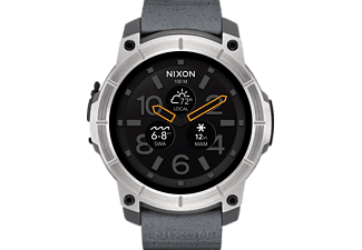 NIXON  Mission Smartwatch Polycarbonat, 250-300 mm, Grau