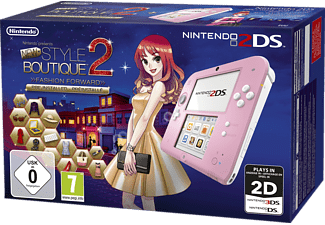 NINTENDO Nintendo 2DS Pink + New Style Boutique 2 – Mode von Morgen
