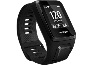 TOMTOM Spark 3 Cardio + Music + Headphones (Small), GPS-Fitnessuhr, 121-175 mm (Small), Schwarz