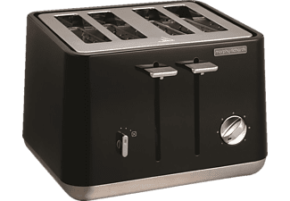 MORPHY RICHARDS 240002 Aspect Toaster Schwarz (1800 Watt, Schlitze: 4)