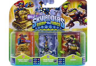 SKYLANDERS Swap Force - Triple Pack D (Heavy Duty Sprocket, Twin Blade Chop Chop, Scorp) Spielfiguren