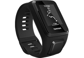 TOMTOM Spark 3 (Small), GPS-Fitnessuhr, 121-175 mm (Small), Schwarz