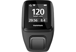 TOMTOM  Spark 3 Cardio (Small), GPS-Fitnessuhr, 121-175 mm (Small), Schwarz