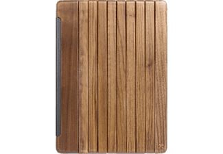 WOODCESSORIES EcoGuard, Flipcover, 12.9 Zoll, iPad Pro, Silber/Walnuss
