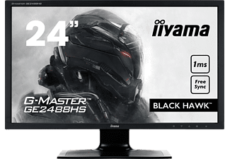 IIYAMA GE2488HS-B2 Gaming 24 Zoll Full-HD Monitor (1x VGA, 1x DVI-D, 1x HDMI, 1x 3.5 mm Klinke Kanäle, 1 ms (Grey-to-Grey) Reaktionszeit)