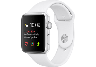 APPLE Watch Series 1, 38mm Silver Aluminium / Vit Sport