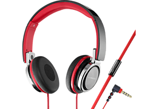VIVANCO SR 770, On-ear Kopfhörer, Headsetfunktion, Schwarz/Rot