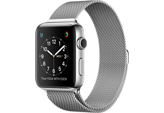 APPLE Watch Series 2, 38mm Boett i rostfritt stål, milanesisk loop
