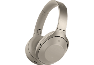 SONY MDR-1000X, Over-ear Kopfhörer, Near Field Communication, Headsetfunktion, Bluetooth, Champagner