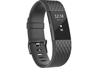 FITBIT  Charge 2 Special Edition Large, Activity Tracker, 165-206 mm, Kunststoff, Schwarz/Schwarz