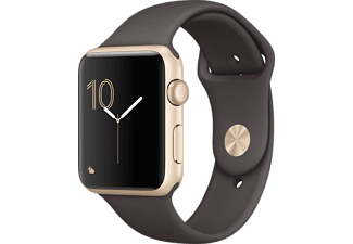 APPLE Watch Series 2 42mm Aluminiumboett i guld & sportband i kakao