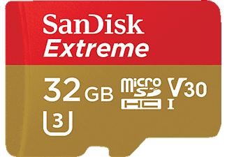 SANDISK Extreme, 32 GB, Micro-SDHC, 90 MB/s