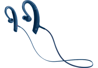 SONY MDR-XB80BS, In-ear Kopfhörer, Near Field Communication, Headsetfunktion, Bluetooth, spritzwassergeschützt, Blau