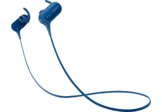 SONY MDR-XB50BS, In-ear Kopfhörer, Near Field Communication, Headsetfunktion, Bluetooth, spritzwassergeschützt, Blau