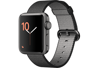 APPLE Watch Series 2 38mm spacegrijs aluminium / zwart nylonbandje