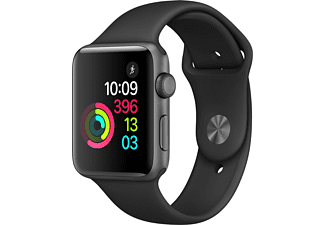 APPLE Watch Series 2 42mm spacegrijs aluminium / zwart sportbandje