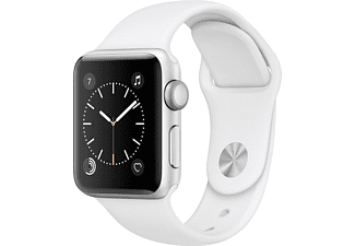 APPLE Watch Series 2 38mm roestvrij staal / wit sportbandje