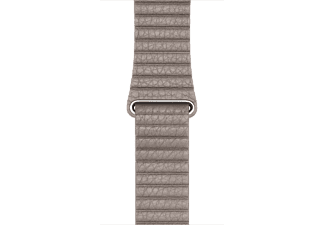 APPLE 42 mm läderloop - rökgrå Medium