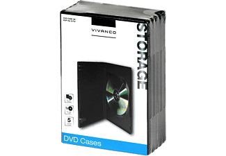 VIVANCO 5 st DVD-Fodral - Svart