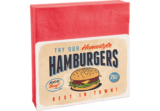 CONTENTO 866708 Try our homestyle hamburgers Serviettenhalter