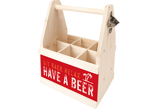 CONTENTO 866655 Beer Caddy sit back relax have a beer Flaschenträger